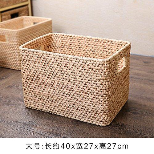 XBR die Kleider - Korb mit Rattan - Korb - Magazin Kleidung lagerung Korb rechteckige lagerung Korb, braune größe -