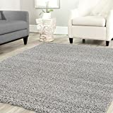 Alfombra Prime tipo shaggy de pelo largo en color turquesa, alfombras modernas para el salón y el dormitorio , Farbe:Grau, Maße:70x250 cm