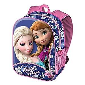 61PQI0jbm7L. SS300  - Karactermania Frozen Zipper Mochilas Infantiles, 39 cm, Rosa