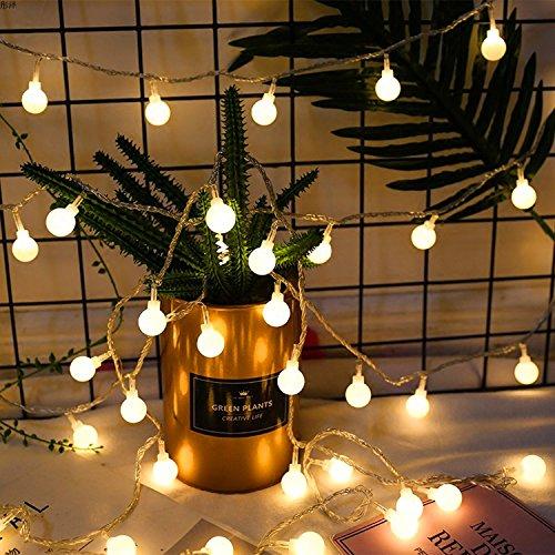 (LED Lichterkette mit batterie, Infreecs Globe Lichterkette Warmweiß, 40led 5m Partybeleuchtung Weihnachtsbeleuchtung Kugel Lichterkette für Innen und Außen Haushalt Garten)