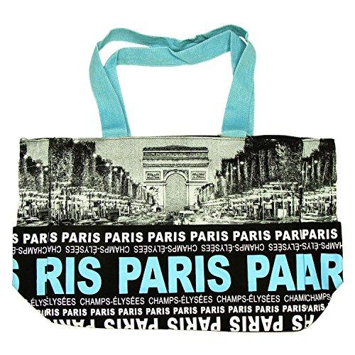 Robin Ruth - Sac Shopping Paris 'Champs-Élysées' - Noir, Bleu