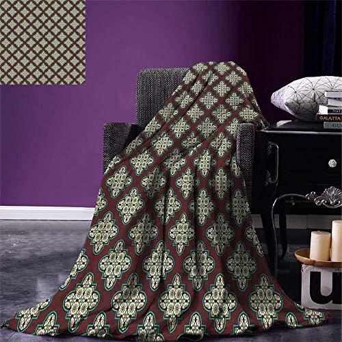 HGTZ Vierpass Wurfdecke Vintage Stil Fliese Antikes arabisches Design und marokkanische Sterne Rechteck Decke -