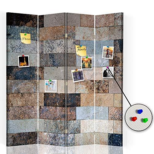 Feeby Separador con Corcho Mosaico 4 Paneles 360° Abstracción Marró