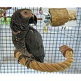 Papagei Spielzeug Papageienspielzeug Vogelspielzeug Sitzseil Freisitz Sitzstange aus Sisal, 45 cm