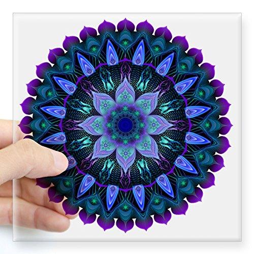 CafePress–Abend Licht Mandala quadratisch Aufkleber 7,6cm X 3–Bumper Aufkleber Auto Aufkleber, 7,6x 7,6cm (klein) oder 12,7x 12,7cm (groß) Small - 3x3 farblos (Politischer Lustiger Autoaufkleber)