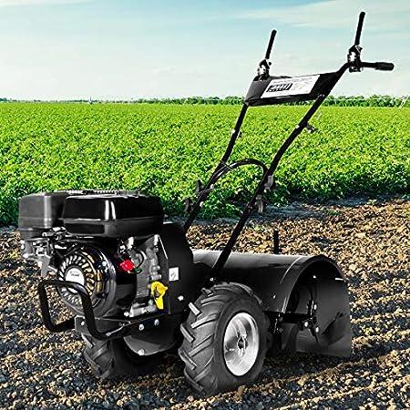 BRAST Benzin Motorhacke 5,15kW(7,0PS) mit 50cm Arbeitsbreite 212ccm TÜV geprüft Ackerfräse Gartenfräse Bodenfräse…