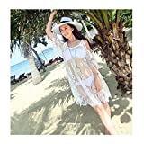 Women Sexy Sheer Bikini Cover-up Hollow Lace Beachwear
