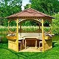 Pavillon PALMA V mit Bitumenschindeldach Holzpavillon Gartenlaube 326x326x280cm von PRIKKER-Holzmarkt bei Gartenmöbel von Du und Dein Garten