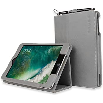 Snugg Leather Case with Flip Stand for Apple iPad Mini/Mini 2 (Grey)