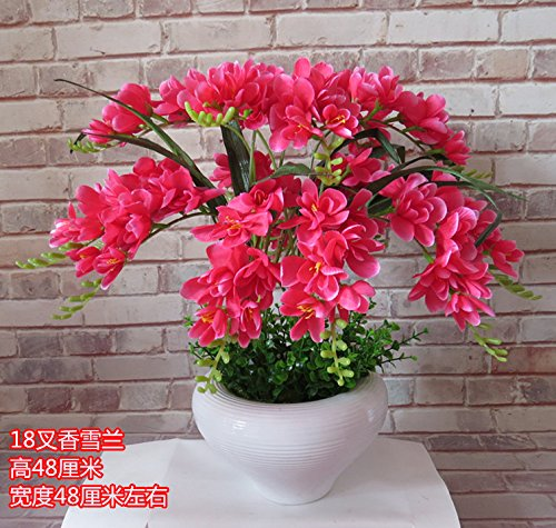 LIXIAOXIN Ornamente False Butterfly Orchid Simulation Dekoration Bonsai Rose Rot