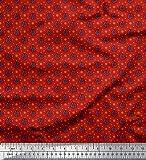 Soimoi Rot japanischer Kreppsatin Stoff künstlerisch