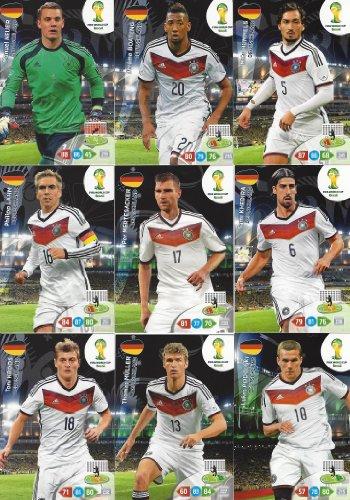 FIFA World Cup 2014 Brazil Adrenalyn XL Germany (Deutschland) Base Card Team Set -