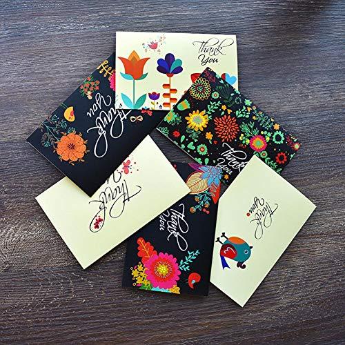 Thank You Karten, Baby und Bridal Dusche Dankes Karten Set, Dankeskarten Hochzeit, blanko auf der Innenseite, Creative Stil Thank You-48Stück, Umschläge enthalten