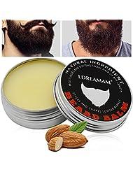 Barbe Baume,Baume pour barbe,Beard Balm,Discipline la barbe en lui apportant éclat et douceur – Réduit les frisottis, le bouclage et les pointes fourchues – Cadeau pour hommes barbus.