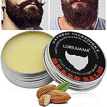 Barbe Baume,Baume pour barbe,Beard Balm,Discipline la barbe en lui apportant éclat et douceur - Réduit les frisottis, le bouclage et les pointes fourchues - Cadeau pour hommes barbus.