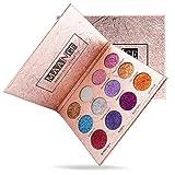 SMILEQ 12 Farben Lidschatten Palette Luxus Golden Matte Nude Lidschatten Paletten (ONE, Mehrfarbig)