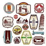 Valise Voyage Rétro Vintage Stickers - Ensemble de 15 étiquettes de bagages Decal