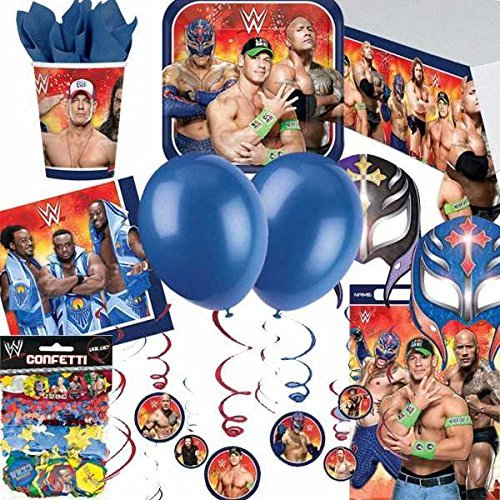 WWE machacar Ultimate Artículos para fiestas Kit para 8