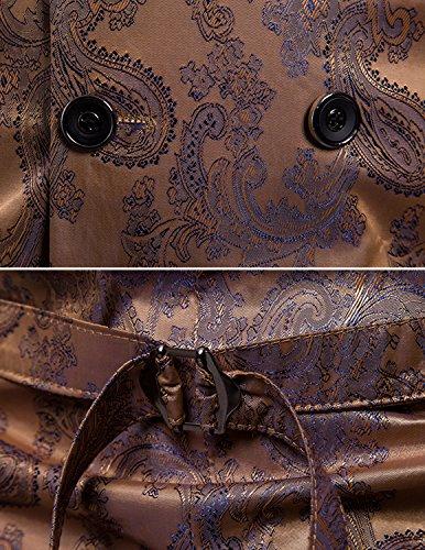 UUAISSO Herren Paisley Weste Slim Fit Geschäft Hochzeit Elegant Anzugweste V-Ausschnitt Blazer Gold