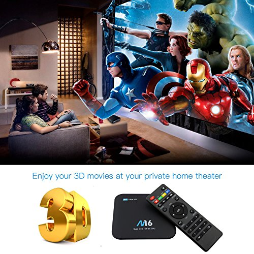 TV Box Android 7.1 – VIDEN Smart TV Box Amlogic S905X Quad-Core, 1GB RAM & 8GB ROM, Video 4K UHD H.265, 2 Porte USB, HDMI, WiFi Web TV Box + Telecomando [Nuova versione] - 5