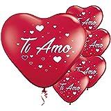 ocballoons Palloncini a Forma di Cuore Rosso Ti Amo 16 PZ San Valentino Festa Evento Cerimonia Decorazione allestimento Roman