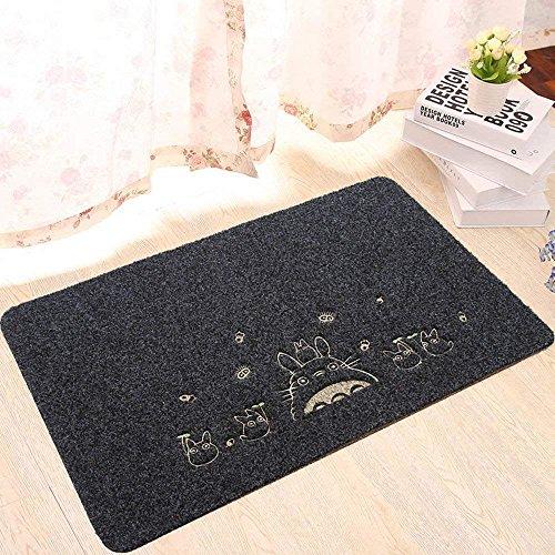 Fußmatte, Homecube Fußabtreter Abtreter Schmutzmatte Schmutzfangmatten mit Motiv rutschfest & waschbar 40cm x 60cm - 4