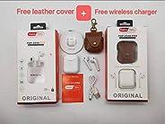 Haino Teko POP 2040 Pro Airpod, Free Wireless Charger & Leather Case