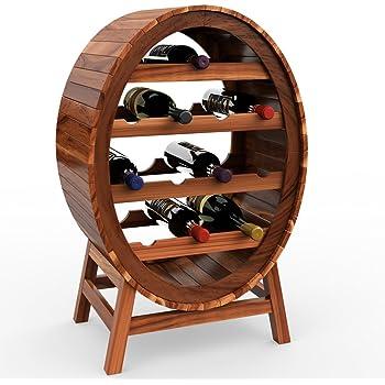 Deuba Weinregal Aus Holz Fur 12 Flaschen Weinfass Design Hohe 90cm