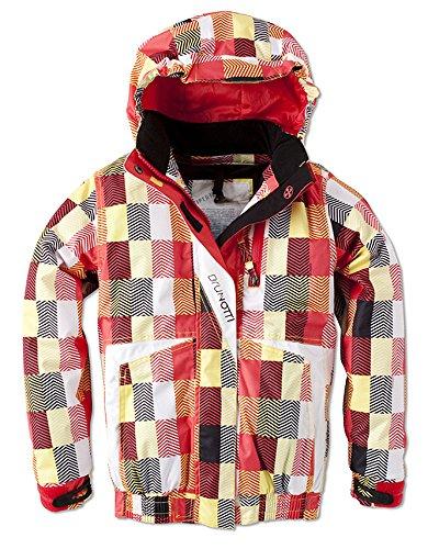 Brunotti Skijacke Winterjacke Jacke Snowboard Kapuze Hipertex rot gelb schwarz 152 (High Performance Kinder Jacke)