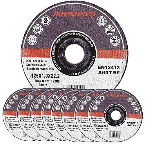 Arebos Trennscheiben für Metall INOX (125 x 1 mm, 100 Stück)