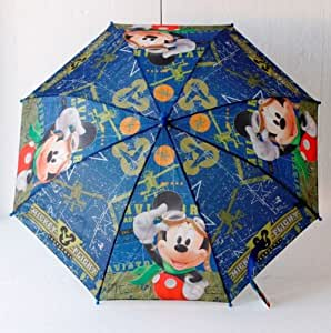 Disney Mickey Mouse Flight Academy automatic umbrella children umbrella boy Mickey Mouse Clubhouse 75cm aircraft, Farbe:Blau