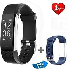 Pruvansay Fitness Armbänder, Fitness Tracker mit Pulsmesser, Fitness Aktivitätstracker Schrittzähler, Schlaf-Monitor,/Kalorienzähler, Anrufen/SMS, Finden Telefon für Android iOS Smartphone
