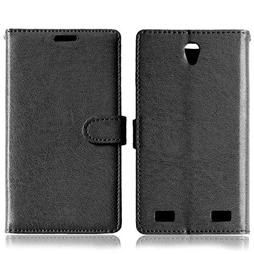 Solid Color PU-Leder-Kasten mit Silikon-Abdeckung Magnetic Kickstand Case für ZTE ZMax2 Z958 ( Color : Rose , Size : ZTE ZMax2 Z958 ) Black