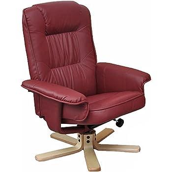 mendler relaxsessel fernsehsessel sessel ohne hocker m56 kunstleder bordeaux k che. Black Bedroom Furniture Sets. Home Design Ideas