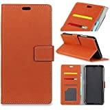 Samsung Galaxy S9 Plus Case, Meroollc Samsung Galaxy S9 Plus Comfortable Folio Flip Cover Comfortable Slim Shell For Samsung Galaxy S9 Plus (Brown)