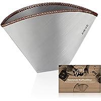 AIEVE Filtre à café réutilisable en acier inoxydable Filtre à café Filtre permanent pour filtre à main, porte-filtre…