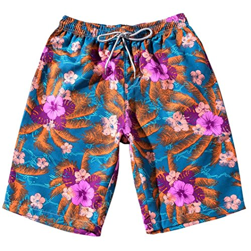 SUCES Paare Shorts Sommer Frauen Männer Strand Floral Bohe Badeshorts Trunks Nickel Hosen Sport Kurzschluss Strand kurze Hosen (6XL, Herren Rwd) (Trunk Floral)