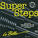 Labella SS45B Super Steps Série Pack de 5 Jeux de Cordes pour Guitare Basse 45/128 Extra Light