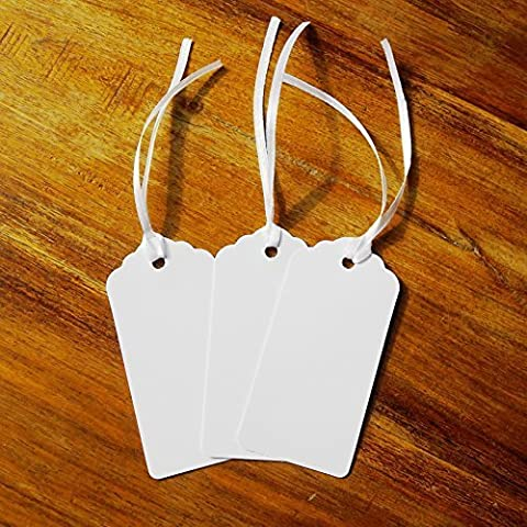Pack of 100 White Tags, Gift, Wedding, Wish Tree Tags