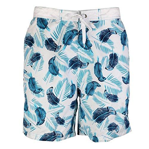 Octave ® pour homme Motif Safari Beach Board Short de bain Style avec poches latérales Multicolore - Bleu