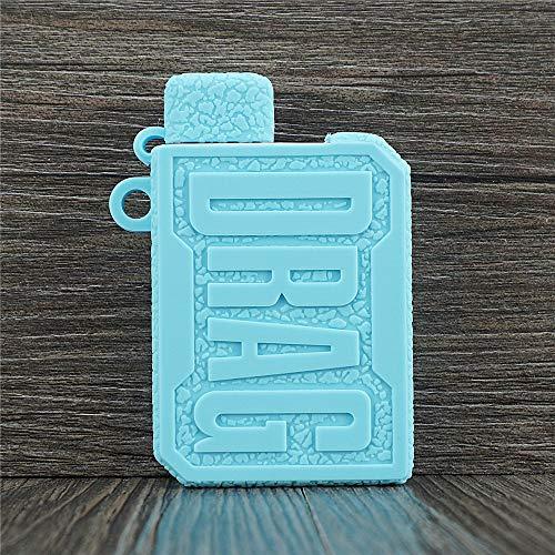 ORIN Schutzhülle Silikon Hülle für Voopoo Drag Nano Kit 750mAh Pod System Kit SchützendSilikon Ärmel AbdeckungWickeln Haut Abziehbild(Tiffany-Blau)