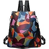 Mochila para mujer, Damas con estilo Mochila de nylon impermeable Bolsos escolares Antirrobo Casual Dayback Bolsas de hombro
