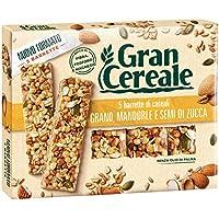 Gran Cereale - Snack Barrette 4 Cereali Grano, Mandorle e Semi di Zucca - Colazione e Snack Dolce - 135 gr