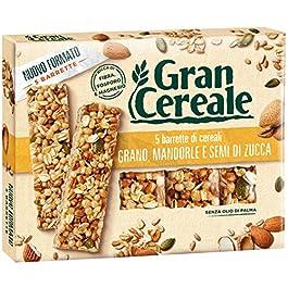 Gran Cereale – Snack Barrette 4 Cereali Grano, Mandorle e Semi di Zucca – Colazione e Snack Dolce – 135 gr