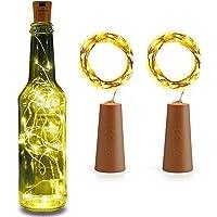 DesiDiya® Bottle Lights with Cork, 20 LED Battery Operated String Lights, Warm White Decorative Fairy Lights, Mini…