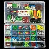 BrilliantDay 146 artificielles pêche leurre appât Leurre Boîte d'articles de pêche appâts leurres Kit, Le Meilleur Choix pour la pêche appâts leurres de pêche pour d'eau Douce