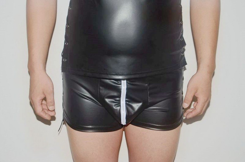 Gli Uomini in Pelle Amano i Pantaloncini Di Biancheria Intima, Vestiti da Discoteca con Chiusura a C