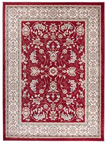 Kashan Roten Teppich (Carpeto Orientteppich Teppich Rot 300 x 400 cm Ornamente Muster Ayla Kollektion)
