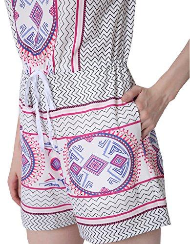 SunIfSnow - Combinaison - Pull - Imprimé Cachemire - Sans Manche - Femme Violet