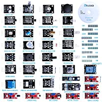 Le kit Elegoo de 37 modules sensors est le kit de capteurs le plus complet pour les débutants avec Arduino Facile et rigolo à utiliser.Le kit contient 37 modules capteurs, 1 CD avec des tutoriels et un assortiment de 100 résistances dans un sac plast...